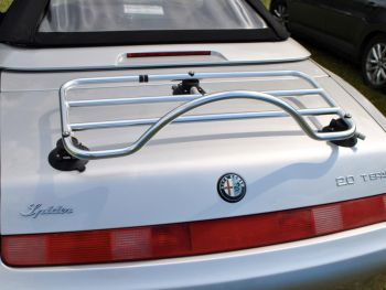 alfa romeo spider 916 stainless steel luggage rack revo-rack fitted to silver 916