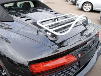 black audi r8 spyder with a revo-rack pa luggage rack fitted