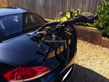 black bmw z4 e89 with a bike rack fitted