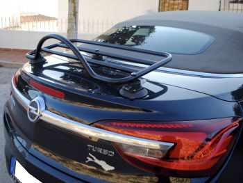 black buick cascada with a revo-rack luggage rack fitted