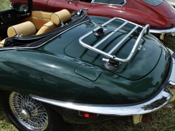 Jaguar E type stainless steel luggage rack