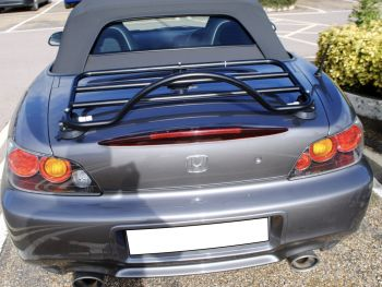 blue honda s2000 with a revo-rack luggage rack fitted