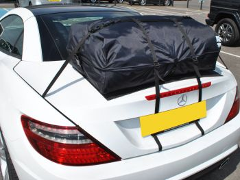 Mercedes Benz SL Luggage rack boot-bag vacation fitted to a white r230 sl