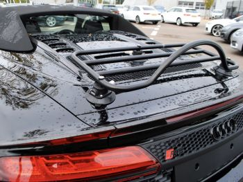 black audi r8 4s spyder with a revo-rack luggage rack fitted close up
