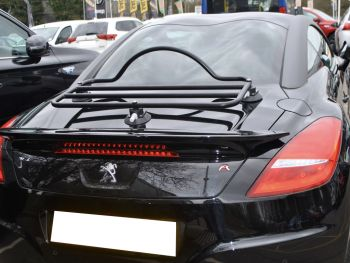 peugeot rcz boot rack carrier fitted to a balck rcz R