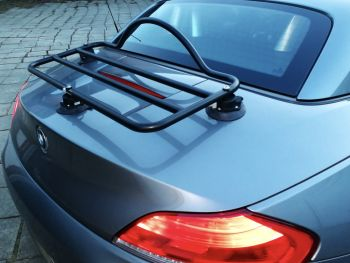 silver grey bmw z4 with a revo-rack luggage rack fitted photographed close